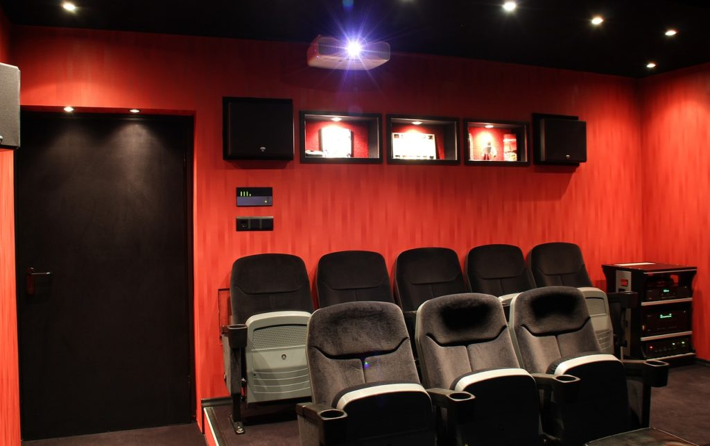 home theater in a man cave